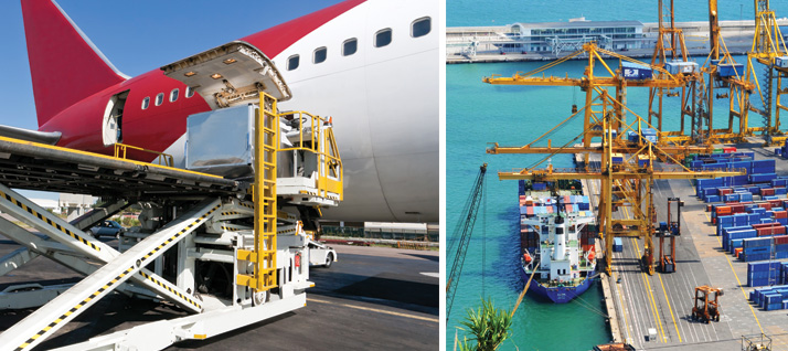 Logistics for Air and Ocean Cargo